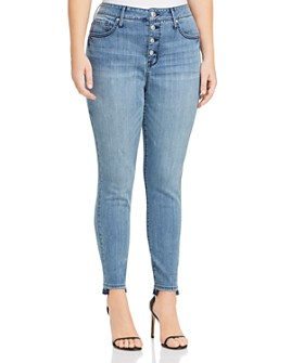 Seven7 Jeans Plus - High Rise Skinny Jeans in Silence
