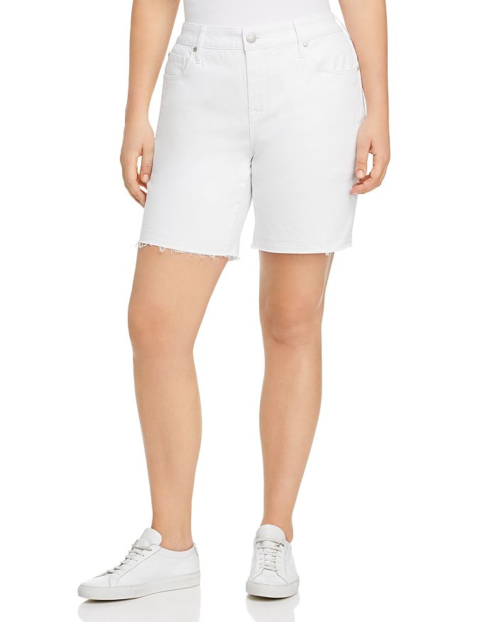 Seven7 Jeans Plus - Weekend Bermuda Shorts in Blanc De Blanc