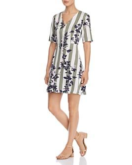 Vero Moda - Vilja Striped-and-Floral Dress