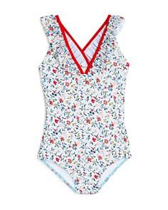 Chloé - Girls' Floral Print One-Piece Swim Suit - Little Kid, Big Kid