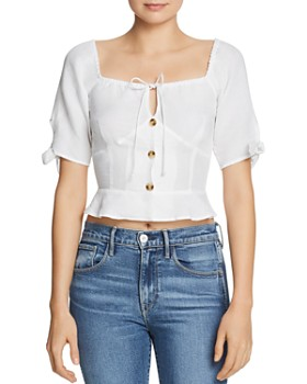 Red Carter - Square-Neck Crop Top