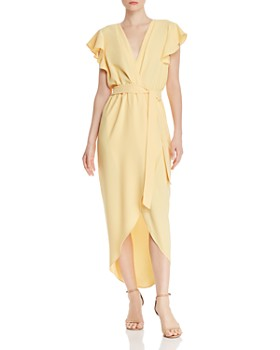 Amanda Uprichard - Martinique High/Low Faux-Wrap Dress