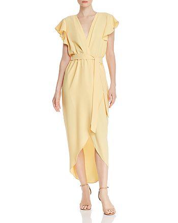 Amanda Uprichard - Martinique High/Low Faux-Wrap Dress