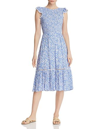 Lost and Wander - Pick Me Smocked Floral Midi Dress