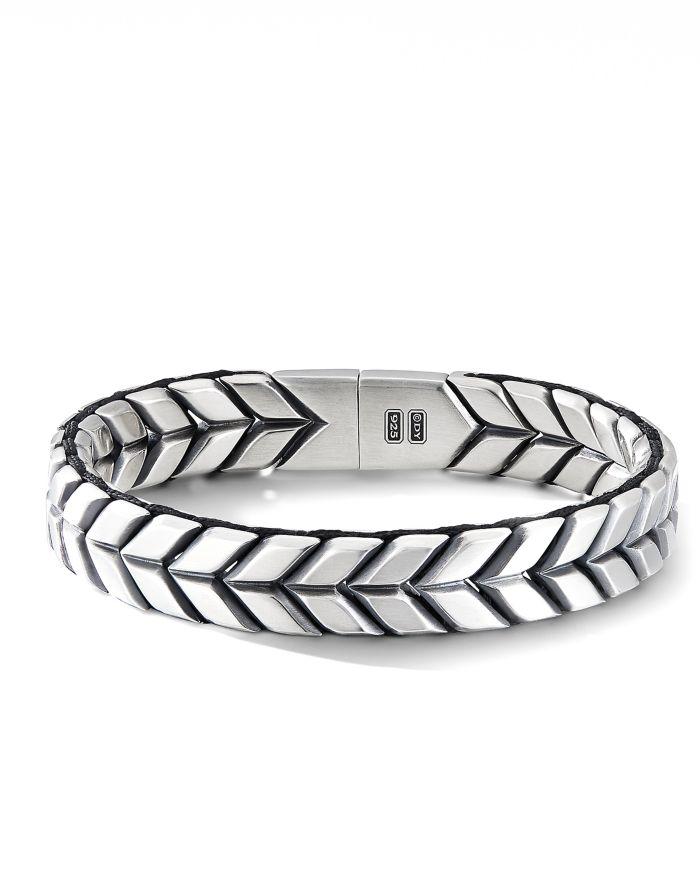 David Yurman Sterling Silver Chevron Woven Bracelet  | Bloomingdale's