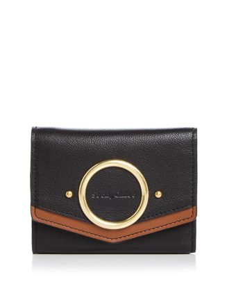 Aura Small Leather Wallet by See By Chloé