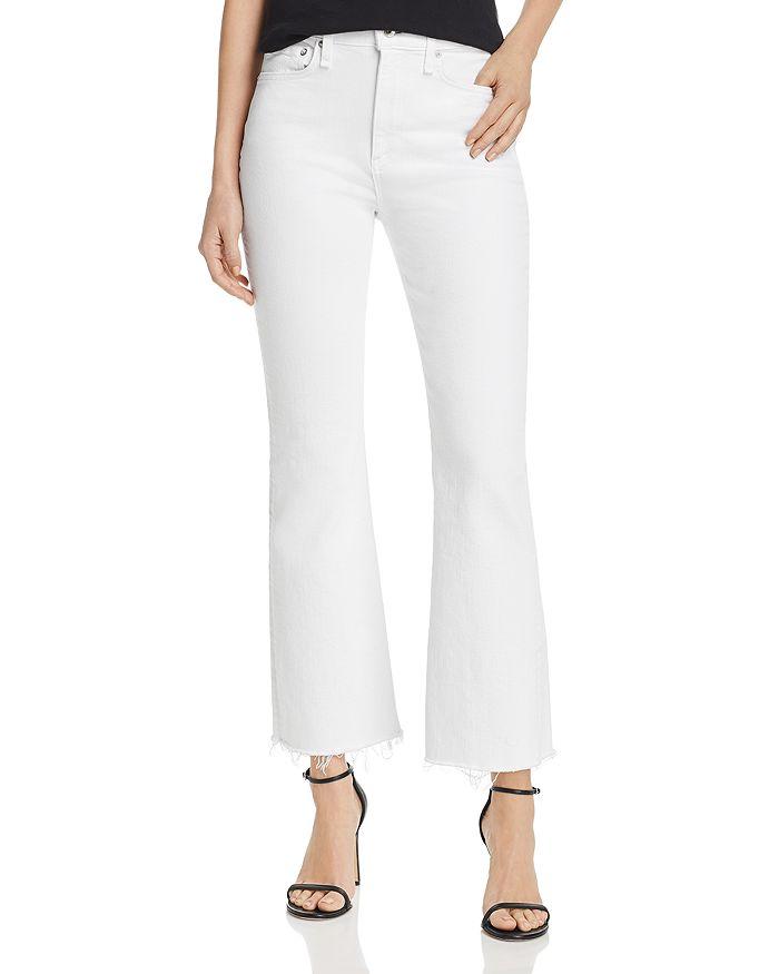 rag & bone - Nina Cropped Flared Jeans in White