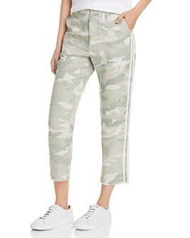MOTHER - The Shaker Cropped Frayed Camo Pants