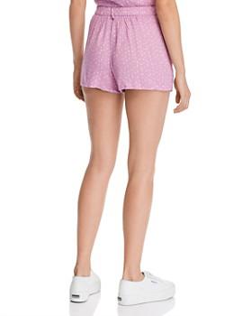 AQUA - Crinkle Polka Dot Shorts - 100% Exclusive