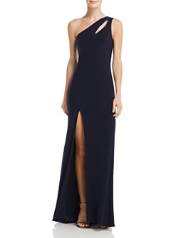 AQUA - One-Shoulder Cutout Gown - 100% Exclusive