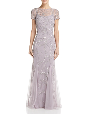 1920s Flapper Dresses, 20s Costumes in Australia Adrianna Papell Embellished Godet Gown AUD 438.85 AT vintagedancer.com
