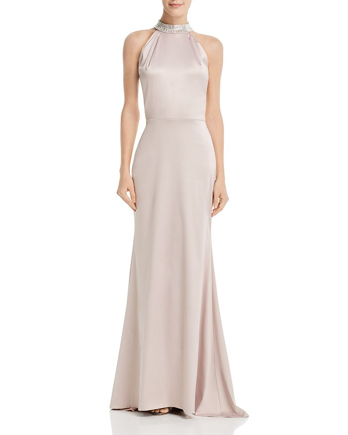 Avery G - Embellished Satin Gown