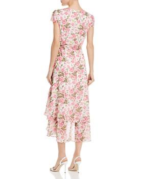 Betsey Johnson - Rose-Print Wrap Dress