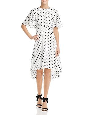 Vintage Dresses Australia- 20s, 30s, 40s, 50s, 60s, 70s Eliza J Flounced Polka-Dot Dress AUD 84.02 AT vintagedancer.com