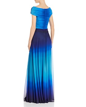 Tadashi Shoji - Off-Shoulder Ombré Gown