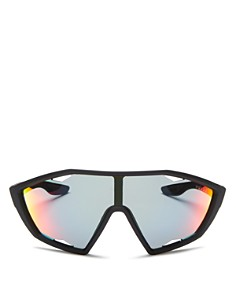 Prada - Men's Linea Rossa Mirrored Shield Sunglasses, 130mm