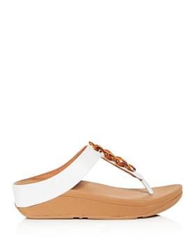 FitFlop - Women's Fino Embellished Platform Thong Sandals