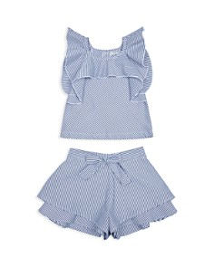 Habitual Kids - Girls' Lia Striped Flounce Tank & Shorts Set - Baby