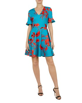 0188febf3 Ted Baker - Chynaa Fantasia-Print Skater Dress ...