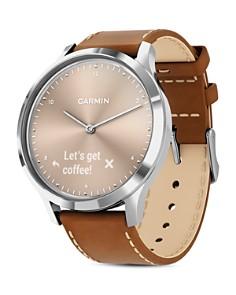 Garmin - Vivomove HR Beige Dial Touchscreen Hybrid Smartwatch, 43mm