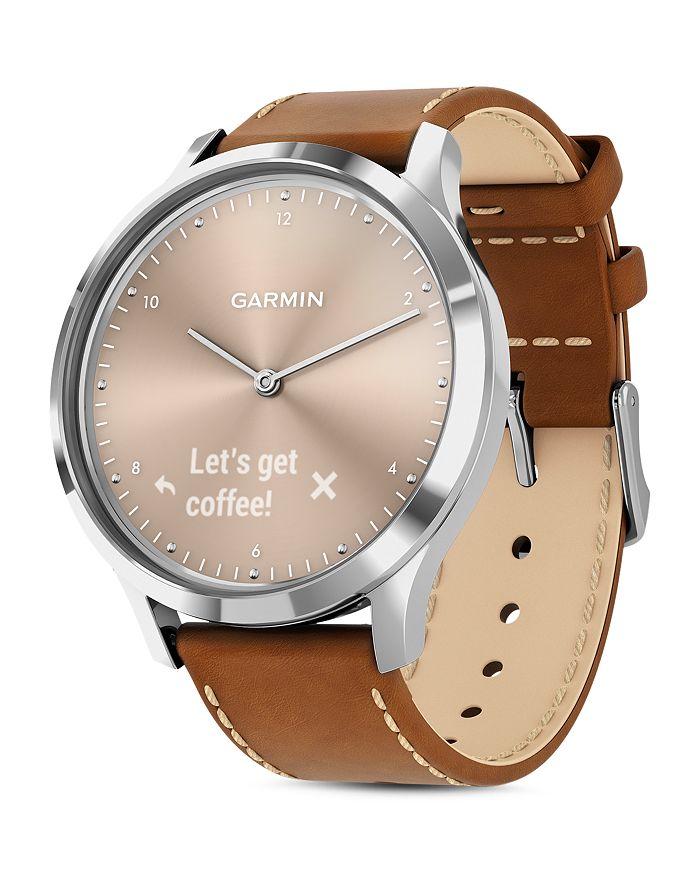 Garmin - Vivomove HR Touchscreen Hybrid Smartwatch, 43mm