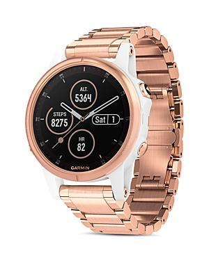 Fenix 5S Plus Rose Gold-Tone Link Bracelet Smartwatch