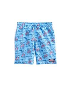 Vineyard Vines - Boys' Sailboat Chappy Swim Trunks - Little Kid, Big Kid