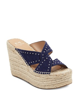 Marc Fisher LTD. - Women's Angelina Studded Espadrille Wedge Sandals