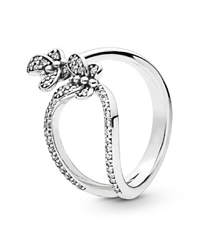 9517cbbae Pandora - Sterling Silver & Cubic Zirconia Open Butterfly Ring ...