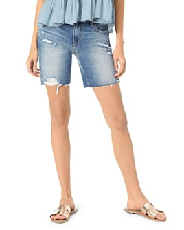 Joe's Jeans - The 7 Cutoff Denim Bermuda Shorts in Farren