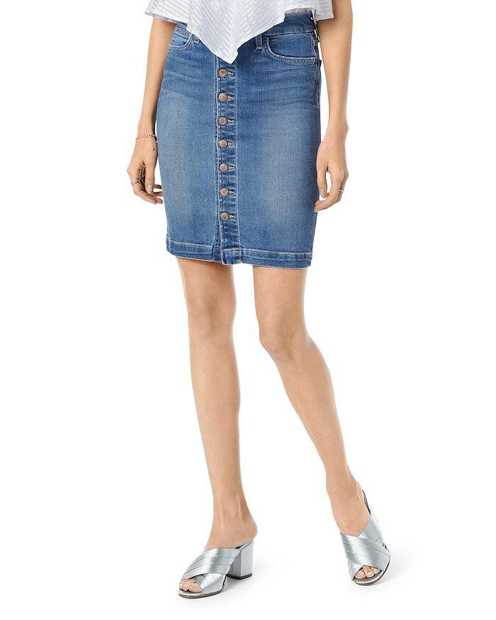 Joe's Jeans - High-Rise Denim Pencil Skirt in Kerrigan