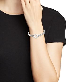 Roberto Coin - 18K White Gold Primavera Diamond Circle Stretch Bangle Bracelet