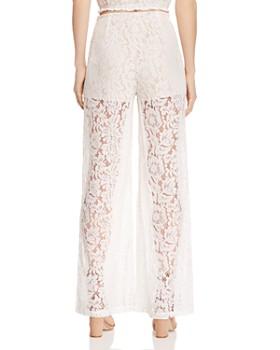 AQUA - Wide-Leg Lace Pants - 100% Exclusive