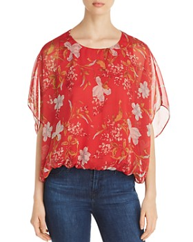0383bee7b0063 VINCE CAMUTO - Wildflower Blouson Top - 100% Exclusive ...