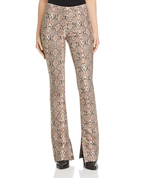 Anine Bing - Printed Cigarette-Leg Pants