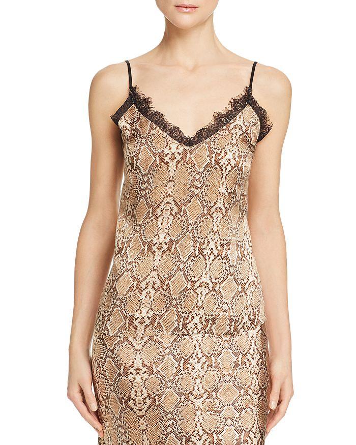 Anine Bing - Snakeskin-Printed Silk Camisole Top
