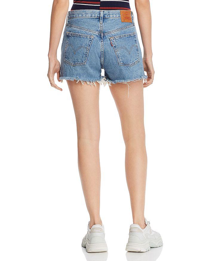 78c0c255 501 High Rise Cutoff Denim Shorts in Flat Broke