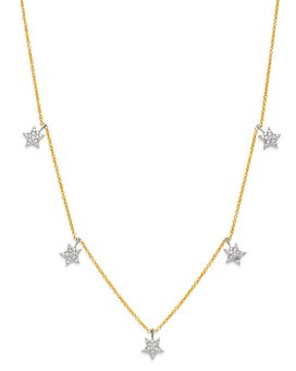 Bloomingdale's - Diamond Star Droplet Necklace in 14K White & Yellow Gold, 0.25 ct. t.w. - 100% Exclusive