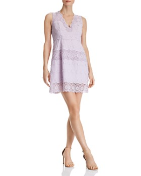 cca3f3e3cc3 AQUA - Floral Lace-Inset Dress - 100% Exclusive ...