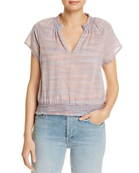 Bella Dahl - Striped Raglan-Sleeve Blouse