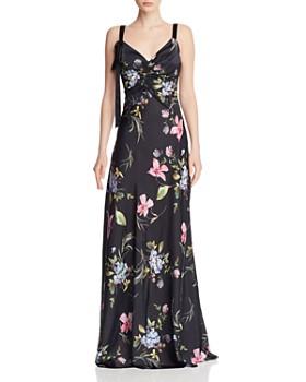 a203d21bc6fc Jill Jill Stuart - Floral Satin Gown ...