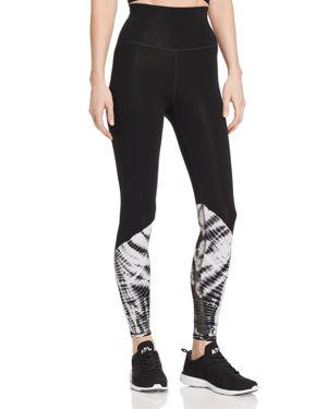 ELECTRIC & ROSE | Electric & Rose Loyola Tie-Dye Detail Leggings | Goxip