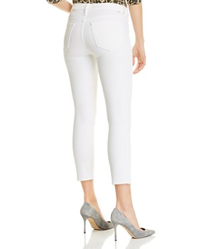 MOTHER - Looker Cropped Skinny Jeans in Glass Slipper