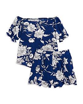 AQUA - Girls' Floral Ruffle Top & Shorts, Big Kid - 100% Exclusive