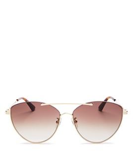 McQ Alexander McQueen - Women's Brow Bar Cat Eye Sunglasses, 58mm