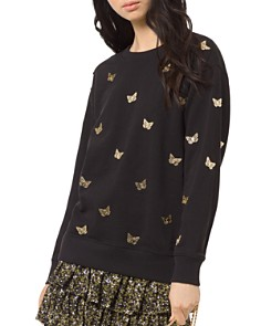 MICHAEL Michael Kors - Butterfly Boyfriend Sweatshirt