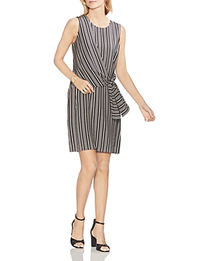 Vince Camuto Dresses STRIPED TIE-FRONT DRESS