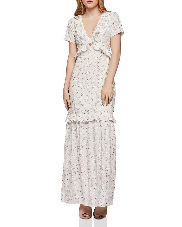 b15241ae557 BCBGENERATION - Floral Swiss Dot Maxi Dress