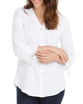 Foxcroft - Marley Gauze Button-Back Shirt