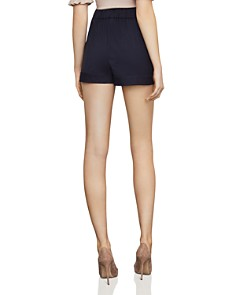 BCBGMAXAZRIA - Micro-Dot Tie-Front Shorts